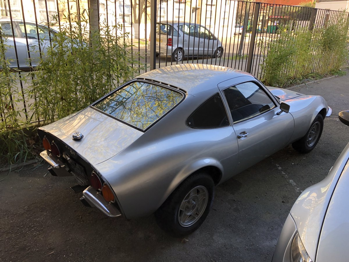 1972 Classic Opel GT 1900 Manual Silver For Sale (picture 4 of 4)