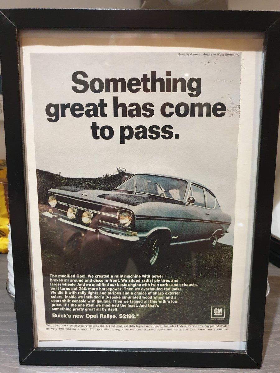 Original 1967 US Opel Rallye advert For Sale (picture 1 of 2)
