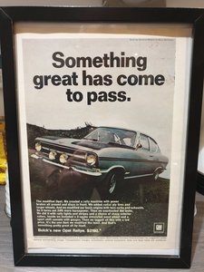 1967 Original US Opel Rallye advert