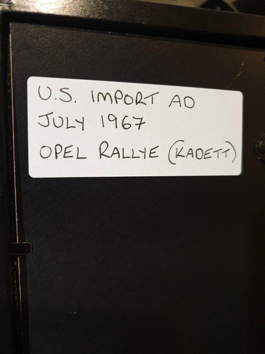 Original 1967 US Opel Rallye advert For Sale (picture 2 of 2)