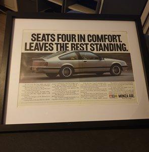 1985 Opel Monza GSE Advert Original