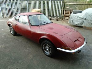 OPEL GT 1900 LHD AUTO COUPE (1971) STRATO MET BLUE! R