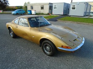 OPEL GT 1900 LHD AUTO COUPE(1969)MET GOLD 58K! 98% RUSTFREE  For Sale