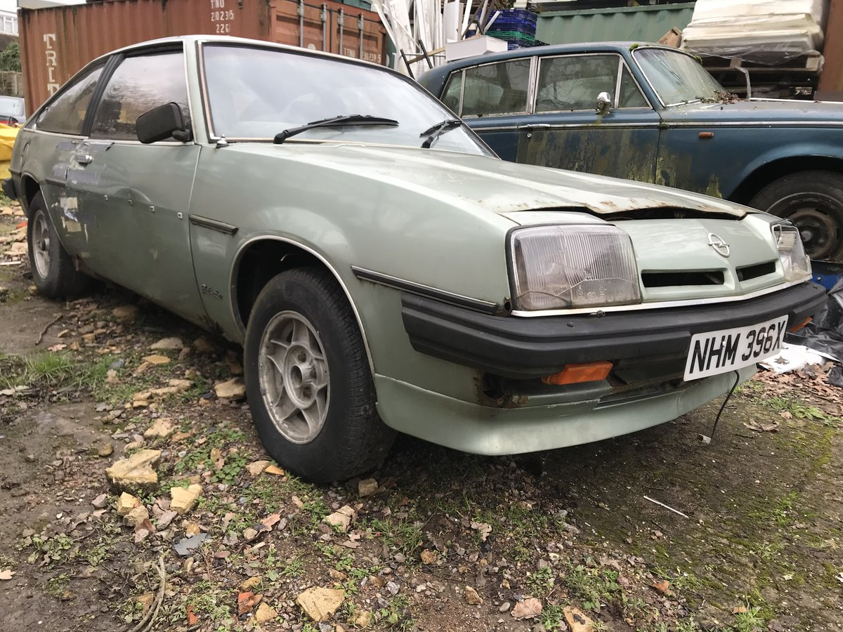 1982 Opel manta  petrol auto - low milage For Sale (picture 1 of 6)