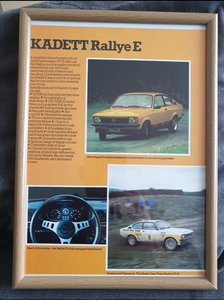 1979 Original Opel Kadett Framed Advert