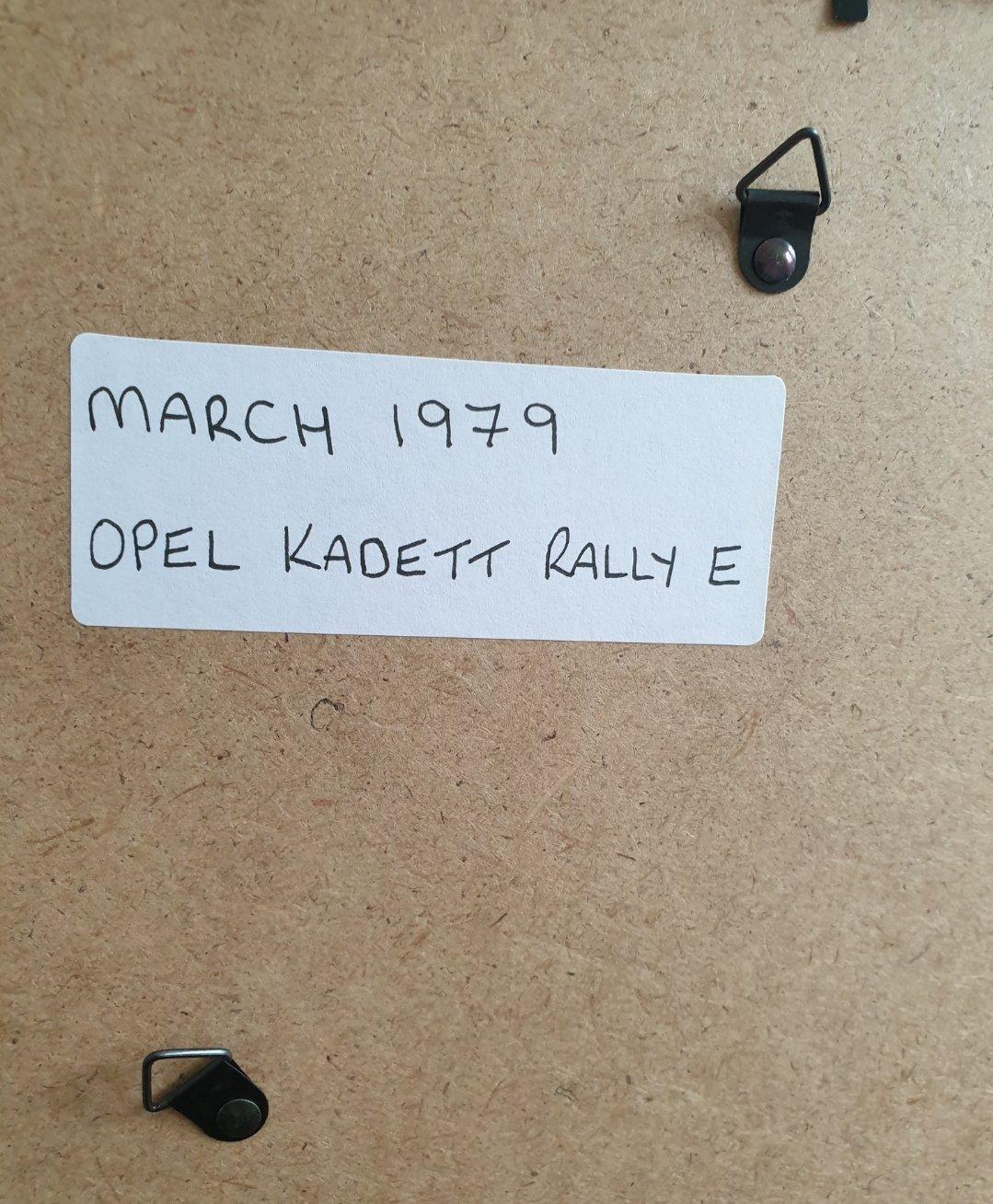 1979 Original Opel Kadett Framed Advert For Sale (picture 2 of 2)