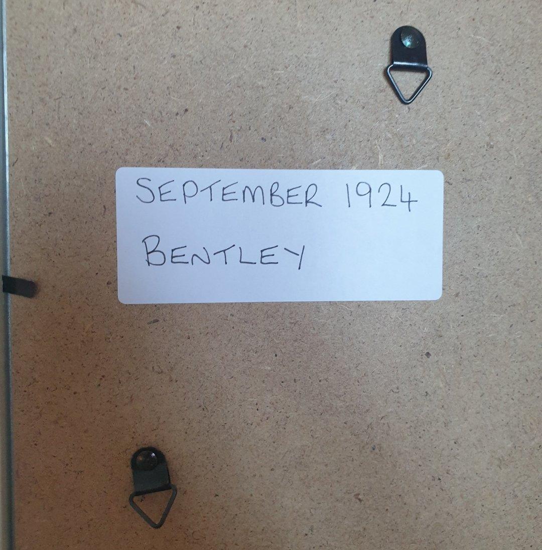 1970 Original 1924 Bentley Framed Advert  For Sale (picture 2 of 2)