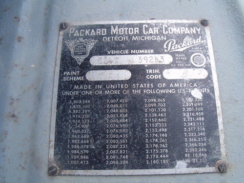 Packard 8 1948 manual 3 speed LHD PRICE RECUCED For Sale (picture 6 of 6)