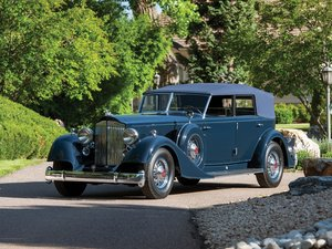 1934 Packard Twelve Custom Convertible Sedan by Dietrich For Sale by Auction
