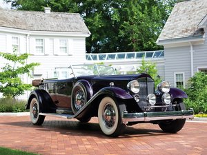 1932 Packard Twin Six Individual Custom Sport Phaeton by Die For Sale by Auction