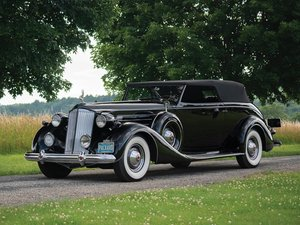 1937 Packard Twelve Convertible Victoria by Rollston For Sale by Auction