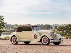 1934 Packard Twelve Custom Convertible Victoria by Dietrich For Sale by Auction