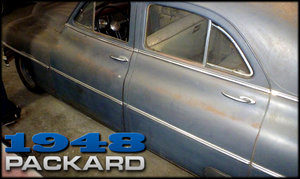 1948 Packard Eight Touring Sedan Patina Project Blue $4.5k For Sale