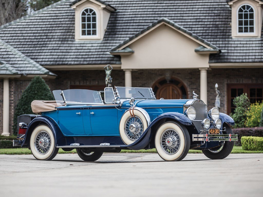 1929 Packard Deluxe Eight Sport Phaeton by Dietrich For Sale by Auction (picture 1 of 6)