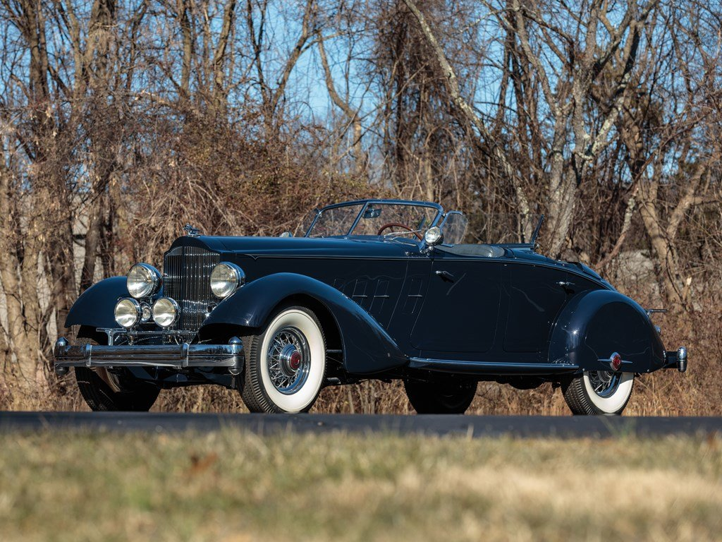1934 Packard Twelve Individual Custom Sport Phaeton in the s For Sale by Auction (picture 1 of 6)