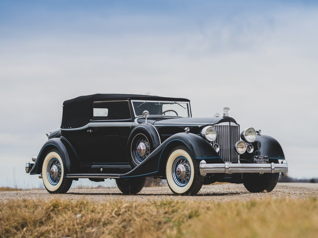 1934 Packard Twelve Convertible Victoria  For Sale by Auction (picture 1 of 6)