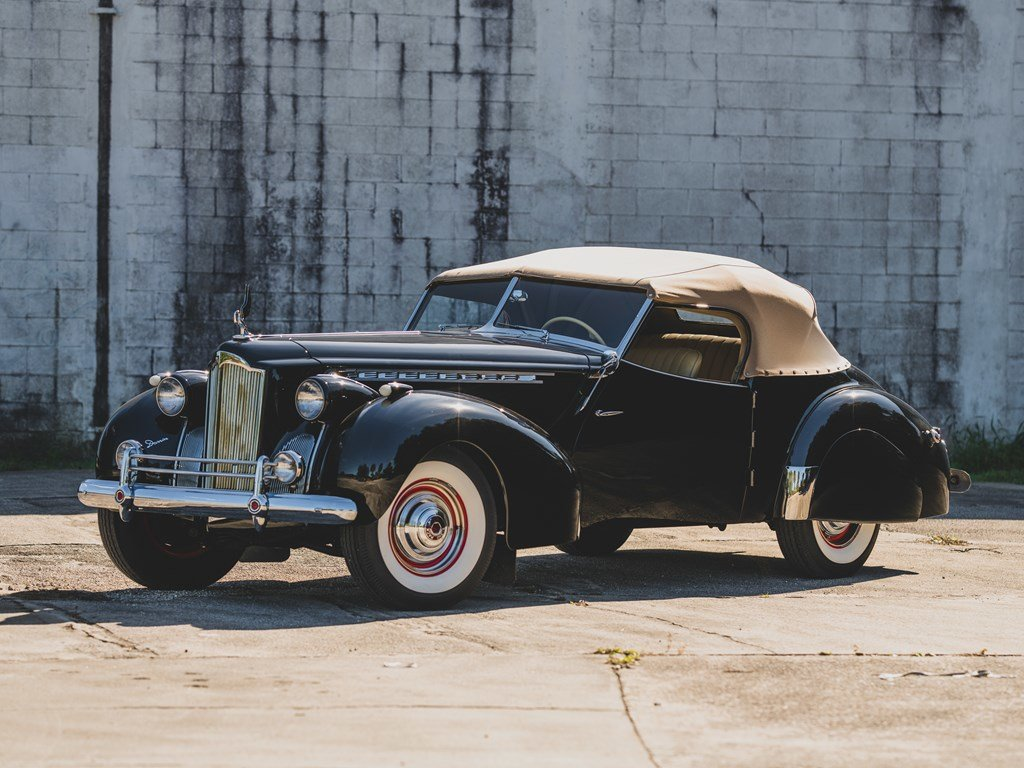 1940 Packard Custom Super Eight One Eighty Convertible Victo For Sale by Auction (picture 1 of 6)