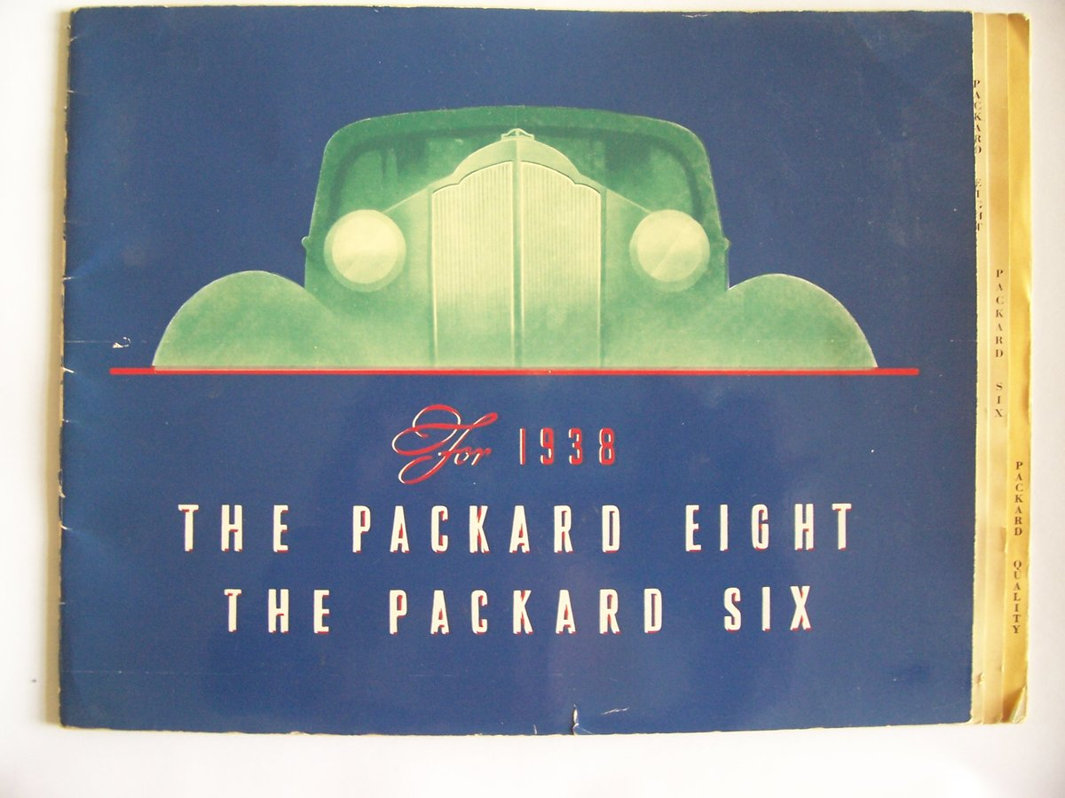 1938 PACKARD 8 &6 COLOUR BROUCHURE For Sale (picture 1 of 6)