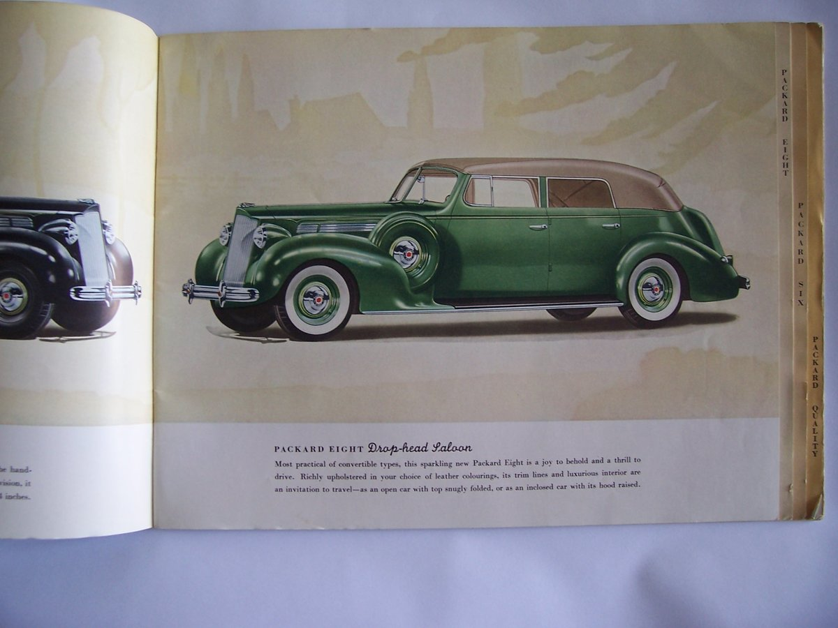 1938 PACKARD 8 &6 COLOUR BROUCHURE For Sale (picture 2 of 6)