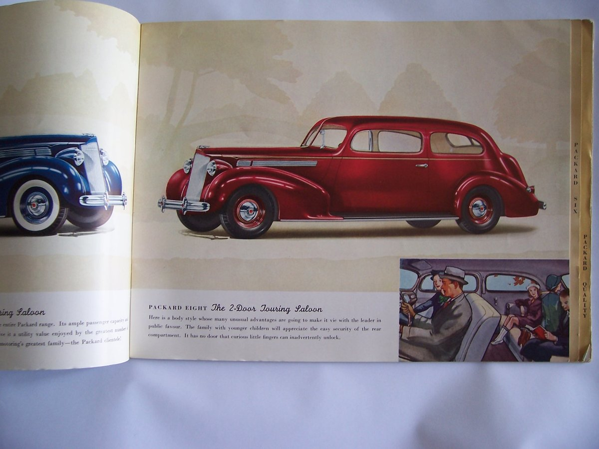 1938 PACKARD 8 &6 COLOUR BROUCHURE For Sale (picture 3 of 6)