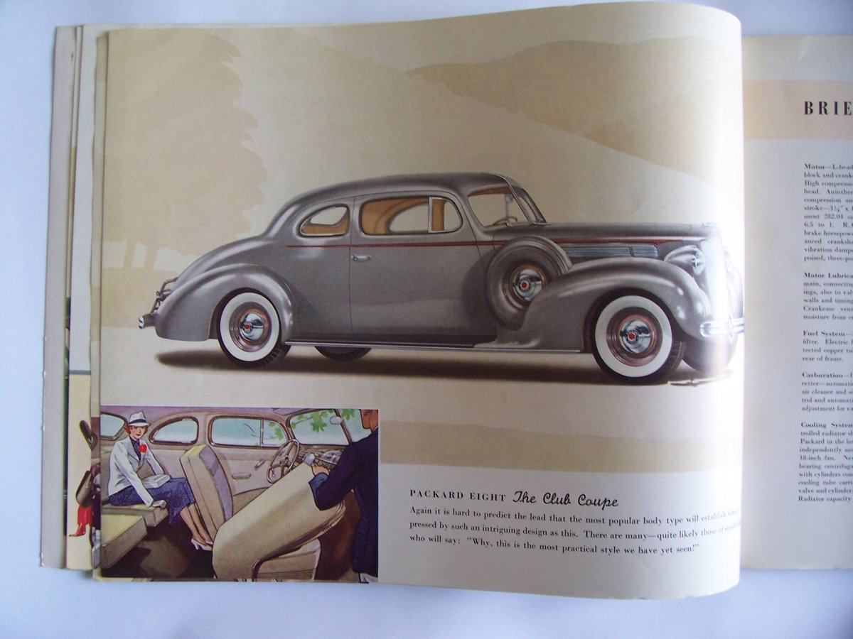 1938 PACKARD 8 &6 COLOUR BROUCHURE For Sale (picture 4 of 6)