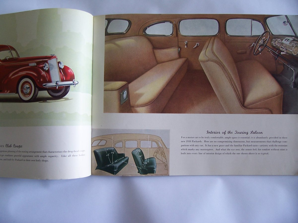 1938 PACKARD 8 &6 COLOUR BROUCHURE For Sale (picture 5 of 6)