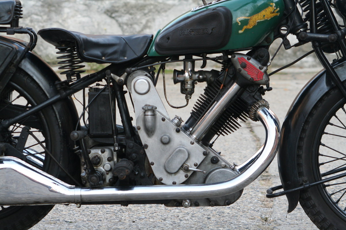 1933 Panther Model 100 Redwing 600cc OHV For Sale (picture 2 of 6)