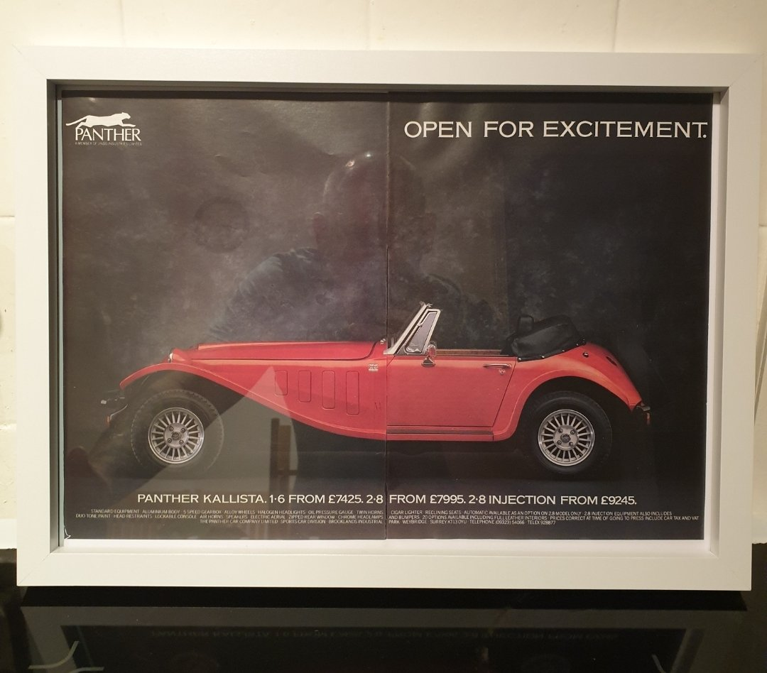 1984 Original Panther Kallista Advert For Sale (picture 1 of 2)