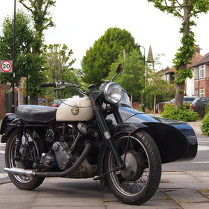 1956 P & M Panther M120 650cc Combo Outfit. For Sale