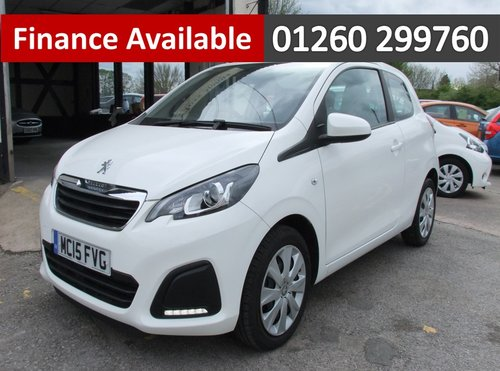 2015 PEUGEOT 108 1.0 ACTIVE 5DR SOLD (picture 1 of 6)