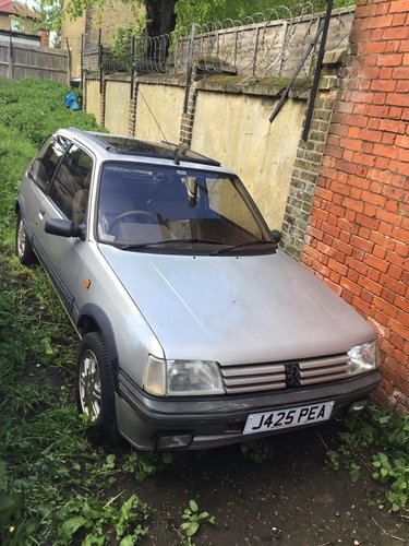 1992 PEUGEOT 205 1.9 GENTRY, AUTO CLASSIC ('92 J) For Sale (picture 1 of 5)