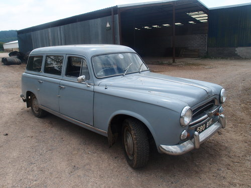 1961 Peugeot 403 Estate RHD SOLD (picture 1 of 6)