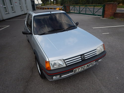 1985 PEUGEOT 205 1.6 GTi Phase One ~ Only 46423 Miles For Sale (picture 2 of 6)