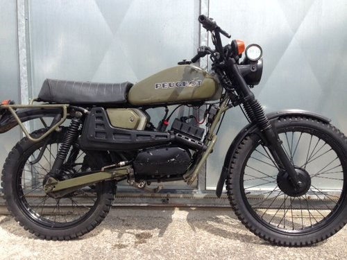 1975 PEUGEOT 80cc SX8 AR FRENCH ARMY TRIALS TRAIL BIKE VERY RARE  For Sale (picture 1 of 6)