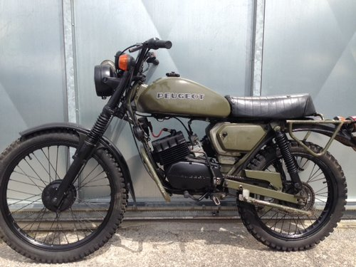 1975 PEUGEOT 80cc SX8 AR FRENCH ARMY TRIALS TRAIL BIKE VERY RARE  For Sale (picture 2 of 6)