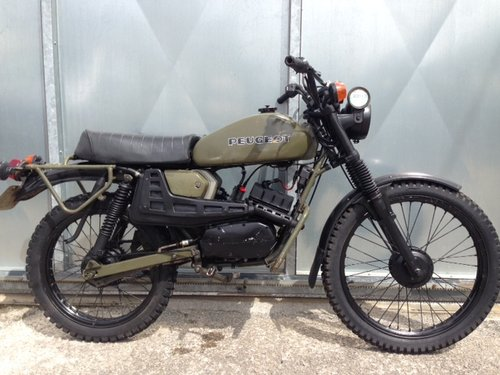 1975 PEUGEOT 80cc SX8 AR FRENCH ARMY TRIALS TRAIL BIKE VERY RARE  For Sale (picture 3 of 6)