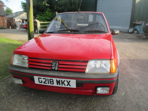 1990 Peugeot 205 1.6 CTI 32000 genuine miles lovely original car For Sale (picture 5 of 6)