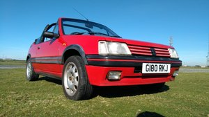 Peugeot 205 CTi 1990 1.6i RED Convertible Cabriolet  For Sale