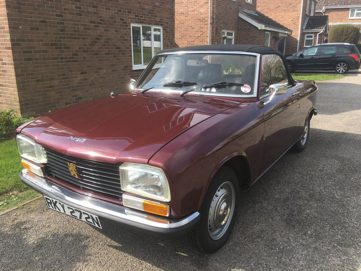 1974 Rare Peugeot 304S Cabriolet SOLD (picture 1 of 6)