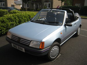 1990 Peugeot 205 CJ with less than 9000 miles, new MOT