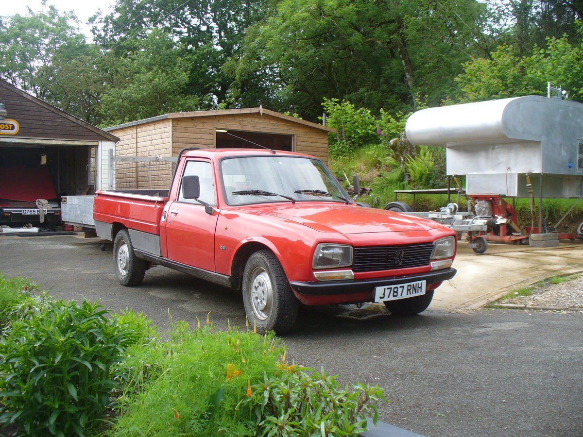 1992 peugeot 504 pick up, with mot ,also demountable  SOLD (picture 1 of 6)