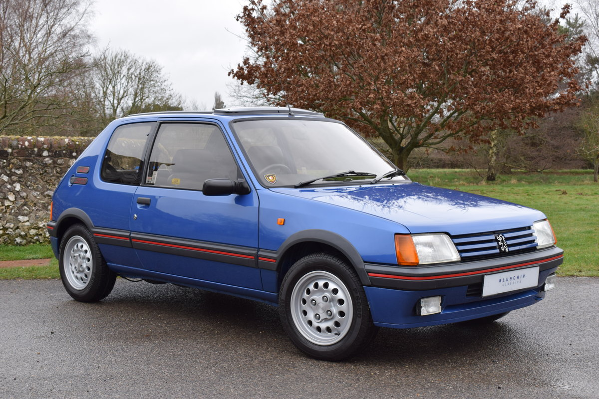 1990 90/H Peugeot 205 GTi 1.6 - one private owner, ltd edition SOLD (picture 1 of 6)