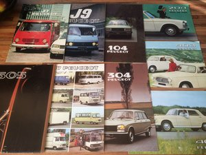 Classic Peugeot brochures For Sale