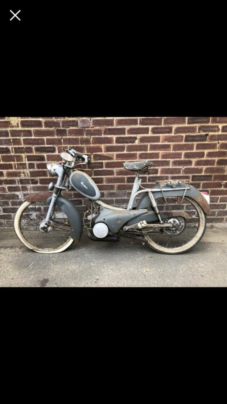1954 Peugeot bb1 moped Restored  For Sale (picture 5 of 5)