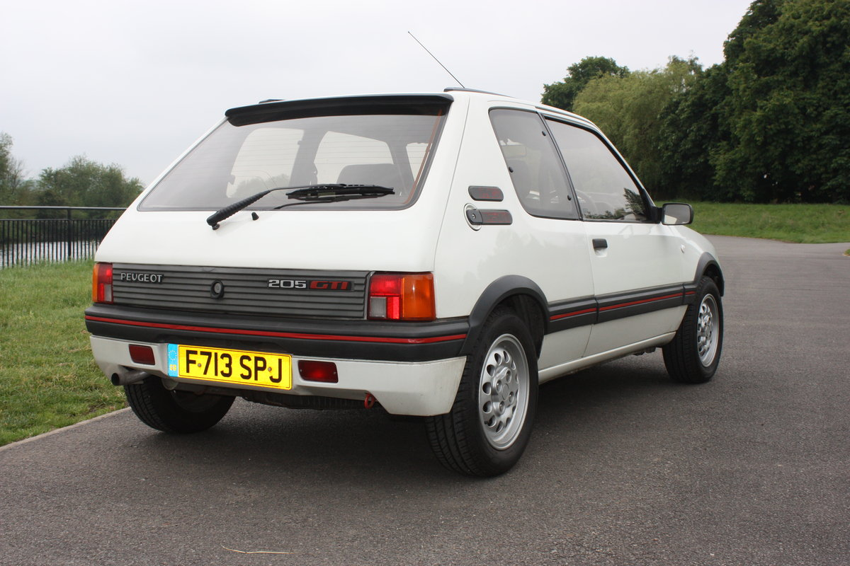 1989 Peugeot 205 GTI 1.6 For Sale (picture 2 of 6)