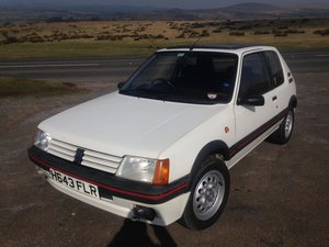 1990 Peugeot 205 GTi 1.6 - 56,000 miles FSH Original Car For Sale by Auction