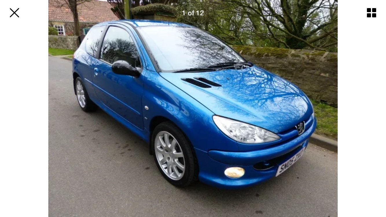 2005 Peugeot 206 GTI 2.0. For Sale (picture 1 of 6)