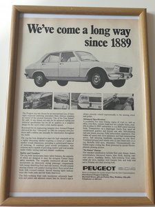 Original 1970 Peugeot 504 Advert