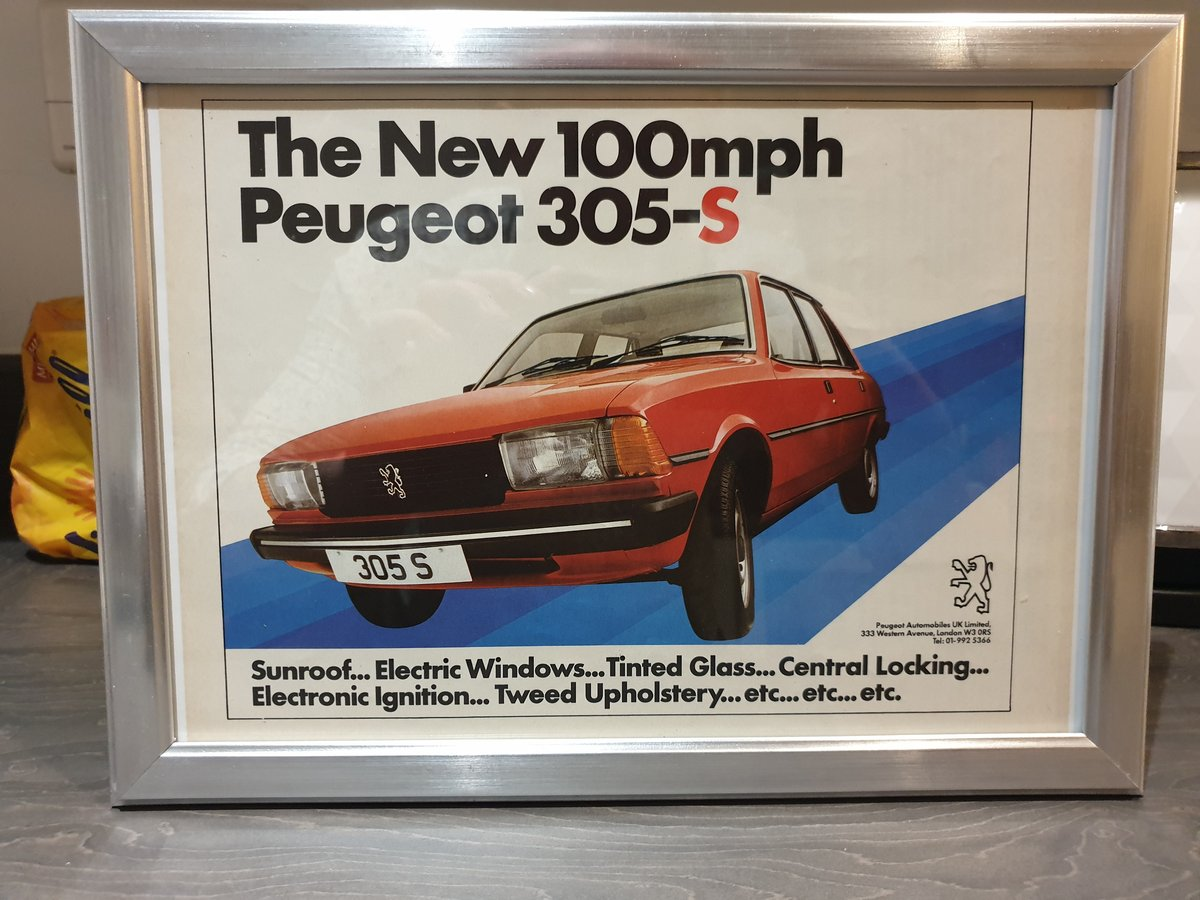 1981 Peugeot 305 Advert Original  For Sale (picture 1 of 2)