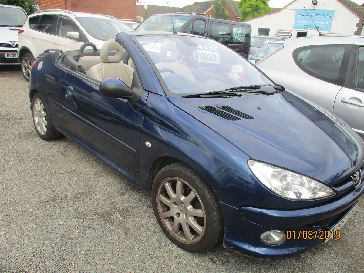 2005 CONVERTIBLE 207 in blue with creme leather trim long MOT 87K For Sale (picture 3 of 6)